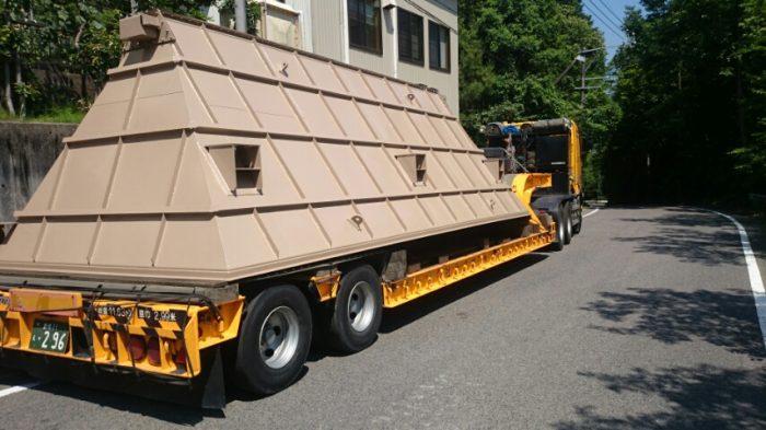 7200×2900×2900 大型集塵器 ホッパ